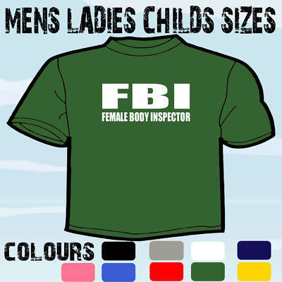 Stag Do T Shirts >> FBI FUNNY MENS LESBIAN HUMOUR SLOGAN T-SHIRT STAG PARTY